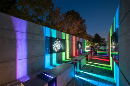Press kit | 2124-01 - Press release | The Illuminating Engineering Society of British Columbia announces its 'Vision Award' winners for 2016 - IESBC - Lighting Design - SFU's Trottier Observatory and Science Courtyard - Photo credit:  PWL PARTNERSHIP LANDSCAPE ARCHITECTS INC.