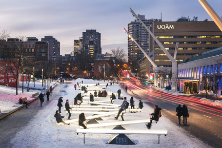 Press kit | 809-18 - Press release | Azure Reveals the Winners of the Sixth Annual AZ Awards - Azure Magazine - Competition - Best Temporary Architecture<br>Lateral Office and CS Design: Impulse, Montreal, Canada - Photo credit:          Ulysse Lemerise<br>