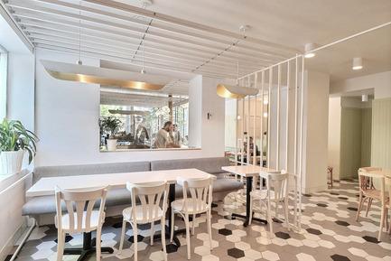 Press kit | 1097-05 - Press release | Café Pista - Les Ateliers Guyon - Commercial Interior Design - Café Pista - Photo credit: EGP TechnoVirtuel inc.