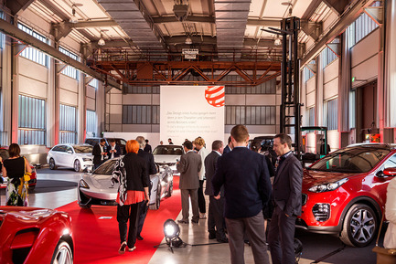 Press kit | 1696-09 - Press release | Award-winning design, premium products and a touch of Hollywood in Essen: That was the Red Dot Gala 2016 - Red Dot Award - Competition - Designers' Night in the midst of award-winning cars<br> - Photo credit: Red Dot