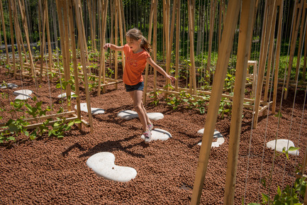Dossier de presse | 837-16 - Communiqué de presse | Opening of the 17th International Garden Festival - International Garden Festival / Reford Gardens - Landscape Architecture -  LA MAISON DE JACQUES by Romy Brosseau, Rosemarie Faille-Faubert, Émilie Gagné-Loranger, Québec (Québec) Canada  - Crédit photo : Martin Bond