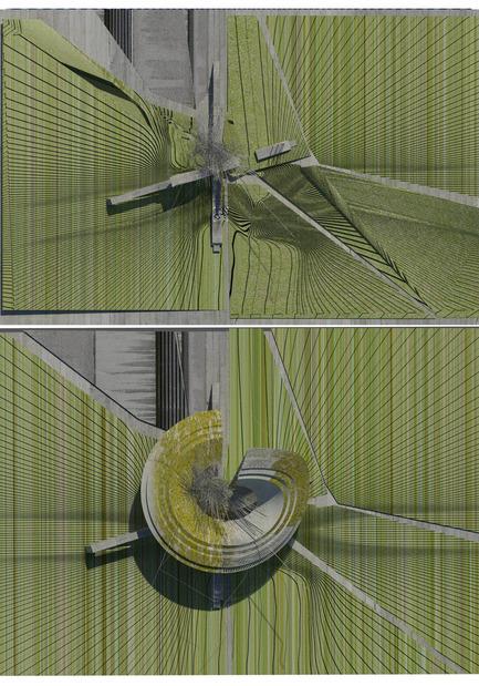 Dossier de presse | 2121-02 - Communiqué de presse | Piezoelectric Trolleybus Gardens - Margot Krasojević Architects - Architecture industrielle - landscape plans etched with light - Crédit photo : Margot Krasojević