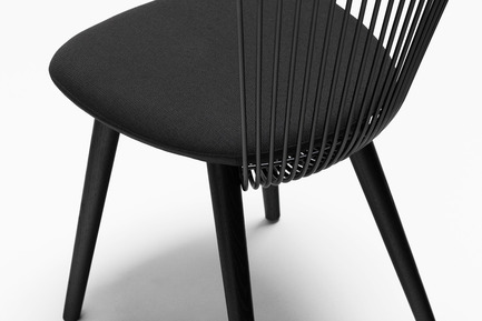 Press kit | 1539-03 - Press release | WW Chair - H Furniture Ltd. - Industrial Design -  WW Chair&nbsp;<br>Wood: oak, stained black. Upholstery: black fabric&nbsp;&nbsp;  - Photo credit: Peter Guenzel