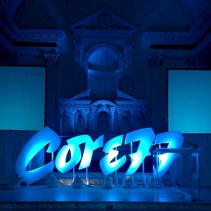 Press kit | 2048-03 - Press release | 3rd Annual Core77 Conference Tickets Now Available - Core77 - Industrial Design - 2015 Core77 Conference - Speaker Stage - Photo credit: Core77