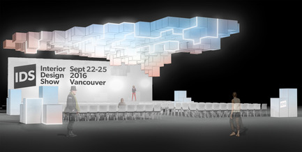 Press kit | 2158-19 - Press release | IDS Vancouver Announces Tom Dixon as Keynote Speaker for Trade Day - Interior Design Show Vancouver (IDS Vancouver) - Event + Exhibition - Concept Rendering of the Caesarstone Stage - Photo credit: Image Courtesy of Stantec