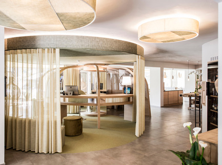 Press kit | 1124-09 - Press release | WIN Awards - Hospitality Shortlist Announced - World Interiors News - Commercial Interior Design -  WIN Awards 2016 - Hotels Category:&nbsp;The Apple Hotel by *noa – network of architecture (Italy)<br><br>It is all about the apple in the 'Apfelhotel Torgglerhof' in Saltaus in the Passiria Valley in Northern Italy. The agricultural farm and the hotel extend on 3 buildings and form the farm ensemble – surrounded by numerous apple trees and nature. For noa* network of architecture the starting point and key element of the design was the circle of the apple throughout the year: bloom, harvest, refinement and repose period.<br><br>'The Apple Hotel dared to be different – and it's charming. The muted palette of textures and tones relates strongly to the sustainable and organic undertones. We loved the contemporary takes on traditional elements throughout the design and we came away feeling refreshed to see a departure from the rustic, industrial and mid-century vibes which have dominated the market for the last few years.' CN<br> - Photo credit: &nbsp;*noa – network of architecture
