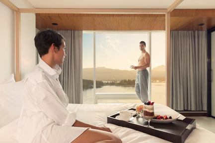 Press kit | 2065-01 - Press release | 'The Owner's Suite Collection' is Unveiled   at Fairmont Pacific Rim in Vancouver, Canada - Fairmont Pacific Rim - Commercial Interior Design - Breakfast in Bed - Lifestyle - Photo credit: Fairmont Pacific Rim