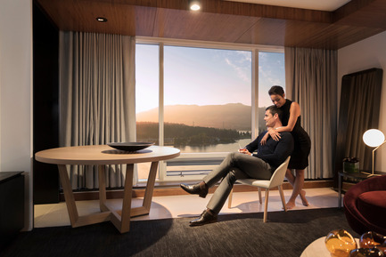 Press kit | 2065-01 - Press release | 'The Owner's Suite Collection' is Unveiled   at Fairmont Pacific Rim in Vancouver, Canada - Fairmont Pacific Rim - Commercial Interior Design - Living Room - Lifestyle - Photo credit: Fairmont Pacific Rim
