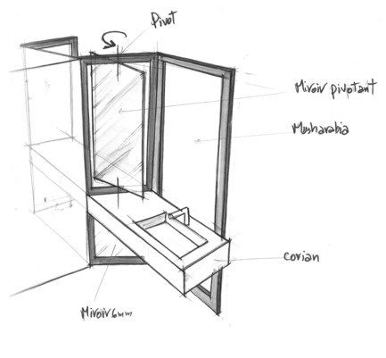 Press kit | 2177-01 - Press release | Atelier Pod Designed the Guest Rooms of the New Radisson Blu in Marrakech - Atelier Pod - Commercial Interior Design - Radisson Blu Marrakech_Sketch  - Photo credit: Atelier Pod