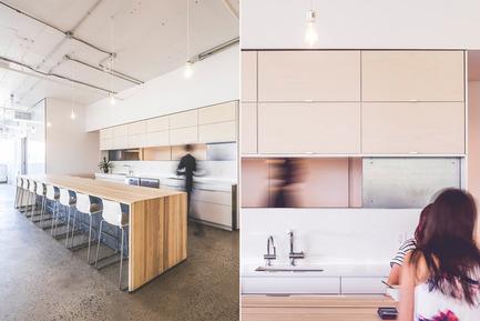 Press kit | 1142-05 - Press release | Piknic Électronik Montréal - L. McComber - Commercial Interior Design - Lunchroom andserving hatch - Photo credit: Raphël Thibodeau