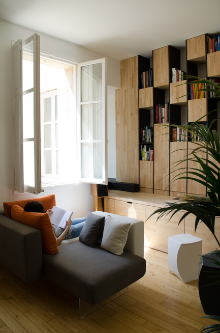 Press kit | 2180-01 - Press release | A big LITTLE nest - Mickaël Martins Afonso & L'atelier miel - Residential Interior Design - Living Room<br> - Photo credit: Mickaël Martins Afonso<br>