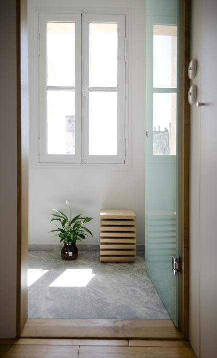 Press kit | 2180-01 - Press release | A big LITTLE nest - Mickaël Martins Afonso & L'atelier miel - Residential Interior Design - Bathroom<br> - Photo credit: Mickaël Martins Afonso