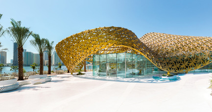 Press kit | 2013-05 - Press release | Winner & Shortlisted announcements for WAN Landscape, Civic, Metal in Architecture Awards 2016 - World Architecture News Awards (WAN AWARDS) - Commercial Architecture - WAN Metal in Architecture Award 2016 Winner - Photo credit:  Butterfly Pavilion – Noor Island by 3deluxe. 2015 \ Photography: Torsten Seidel <br>