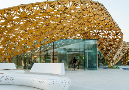 Press kit | 2013-05 - Press release | Winner & Shortlisted announcements for WAN Landscape, Civic, Metal in Architecture Awards 2016 - World Architecture News Awards (WAN AWARDS) - Commercial Architecture - WAN Metal in Architecture Award 2016 Winner - Photo credit:  Butterfly Pavilion – Noor Island by 3deluxe. 2015 \ Photography: Sascha Jahnke<br>