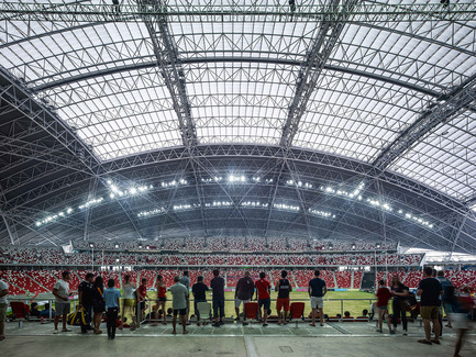 Press kit | 2186-01 - Press release | Singapore National Stadium - Arup Associates - Institutional Architecture -  The dome roof form was chosen as it is inherently a highly structurally efficient geometry for a roof structure of this scale, especially one that integrates a retractable roof  - Photo credit:  Christian Richters