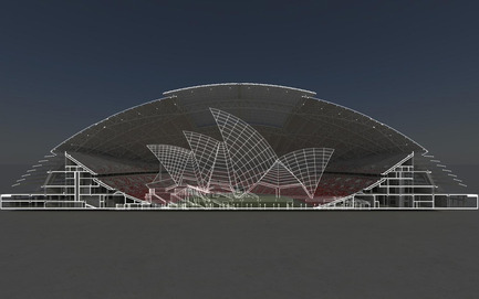 Press kit | 2186-01 - Press release | Singapore National Stadium - Arup Associates - Institutional Architecture -  The largest free spanning dome in the world - The Singapore National Stadium could comfortably envelope the Sydney Opera House  - Photo credit:  Arup Associates