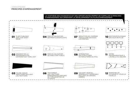 Press kit | 2191-01 - Press release | The Viger Square revitalization: a hybrid landscape grounded in its built and artistic heritage - Ville de Montréal and NIPPAYSAGE - Landscape Architecture - Design principles - Photo credit: NIPPAYSAGE