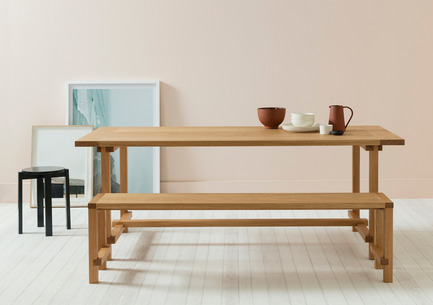 Press kit | 1189-04 - Press release | Another Country launch Series Four at designjunction - Another Country - Industrial Design - Series Four - Dining table, bench and stackable low stool - Photo credit: Another Country
