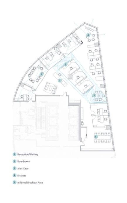 Dossier de presse | 2073-02 - Communiqué de presse | From mountain to modern design, DIALOG createsEdgar's new space to bring the outdoors inside - DIALOG - Design d'intérieur commercial - Edgar Office floor plan <br> - Crédit photo : DIALOG