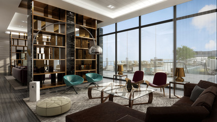 Press kit | 2066-02 - Press release | II BY IV DESIGN | The Epitome of Silent Luxury - II BY IV DESIGN - Urban Design - Aqualina at Bayside_Roof Top Lounge - Photo credit: Aareas Interactive Inc.