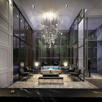 Press kit | 2066-02 - Press release | II BY IV DESIGN | The Epitome of Silent Luxury - II BY IV DESIGN - Urban Design - The Jack_Lobby - Photo credit: Norm Li Architectural Graphics