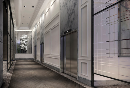 Press kit | 2066-02 - Press release | II BY IV DESIGN | The Epitome of Silent Luxury - II BY IV DESIGN - Urban Design - The Jack_Elevator Lobby - Photo credit: Norm Li Architectural Graphics