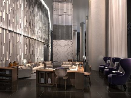 Press kit | 2066-02 - Press release | II BY IV DESIGN | The Epitome of Silent Luxury - II BY IV DESIGN - Urban Design - Ten York_Lobby Lounge - Photo credit: Norm Li Architectural Graphics