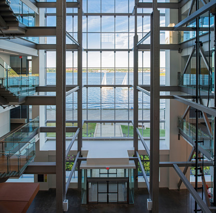 Dossier de presse | 1080-02 - Communiqué de presse | International Awards shortlist announced - INSIDE: World Festival of Interiors - Competition - Nova Scotia Power Corporate Headquarters, Canada<br>by WZMH Architects