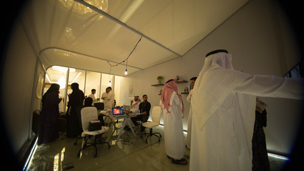 Press kit | 1652-02 - Press release | Saudi Design Week Completes Its Third And Most Successful Edition To-Date - Saudi Design Week - Event + Exhibition - Interior Shot of banafsajeel Exhibition<br>&nbsp; - Photo credit: Muzna Qamar, SDW 2016