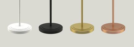Press kit | 2110-02 - Press release | Larose Guyon's new lighting collection Le Royer - Larose Guyon - Lighting Design - Le Royer - Finishes - Photo credit: Larose Guyon