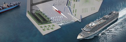 Press kit | 2234-01 - Press release | DMMRC – Dubai Maritime Museum & Research Centre - Studio Niko Kapa - Institutional Architecture - Aerial view - Photo credit: Studio Niko Kapa