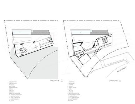 Press kit | 2244-01 - Press release | MU77 Receives 2016AIA|LA Design Award - Arshia Architects,ltd - Residential Architecture - MU77-FLOOR PLAN DIAGRAMS - Photo credit: ARSHIA MAHMOODI