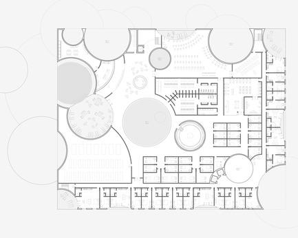 Press kit | 2255-01 - Press release | Liepāja Thermal Bath receives 2016 AAP American Architecture Prize - Steven Christensen Architecture - Institutional Architecture - Plan, Level 3 - Photo credit: Steven Christensen Architecture