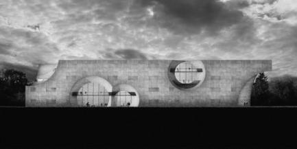 Press kit | 2255-01 - Press release | Liepāja Thermal Bath receives 2016 AAP American Architecture Prize - Steven Christensen Architecture - Institutional Architecture - South Elevation - Photo credit: Steven Christensen Architecture