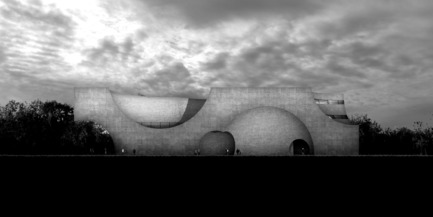Press kit | 2255-01 - Press release | Liepāja Thermal Bath receives 2016 AAP American Architecture Prize - Steven Christensen Architecture - Institutional Architecture - West Elevation - Photo credit: Steven Christensen Architecture