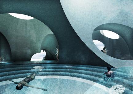 Press kit | 2255-01 - Press release | Liepāja Thermal Bath receives 2016 AAP American Architecture Prize - Steven Christensen Architecture - Institutional Architecture - Interior View, Tepidarium - Photo credit: Steven Christensen Architecture