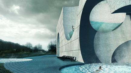 Press kit | 2255-01 - Press release | Liepāja Thermal Bath receives 2016 AAP American Architecture Prize - Steven Christensen Architecture - Institutional Architecture - Exterior View, West Baths - Photo credit: Steven Christensen Architecture