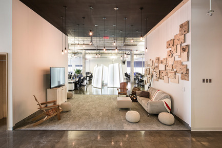 Press kit | 1152-08 - Press release | Four-Season Work and Play Areas at Ubisoft Quebec City - LumiGroup - Commercial Interior Design - 'Winter room' <br>Absolux Lighting   - Photo credit: Jonathan Robert