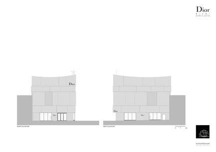 Press kit | 2211-01 - Press release | Dior Miami Facade - BarbaritoBancel Architects - Commercial Architecture - Main facade elevations - Photo credit: BarbaritoBancel architects