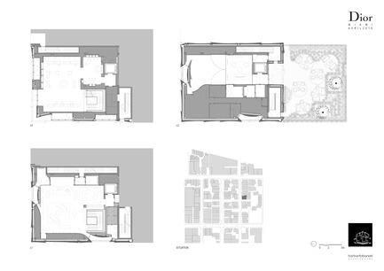 Press kit | 2211-01 - Press release | Dior Miami Facade - BarbaritoBancel Architects - Commercial Architecture - Floor plans - Photo credit: BarbaritoBancel architects