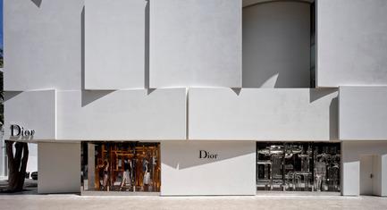 Press kit | 2211-01 - Press release | Dior Miami Facade - BarbaritoBancel Architects - Commercial Architecture - West elevation on paseo - Photo credit: Alessandra Chemollo