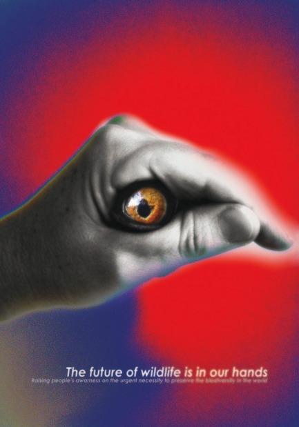 Dossier de presse | 748-23 - Communiqué de presse | Faire mouche grâce à l'image – Exposition rétrospective de l'affichiste Nelu Wolfensohn au Centre de design de l'UQAM - Centre de design de l'UQAM - Évènement + Exposition - THE FUTURE OF WILDLIFE, 2016, par Nelu Wolfensohn / Affiche sélectionnée au Concours Biodiversité, 14e Biennale internationale de l'affiche à Mexico, Mexique, 2016 - Crédit photo : Nelu Wolfensohn