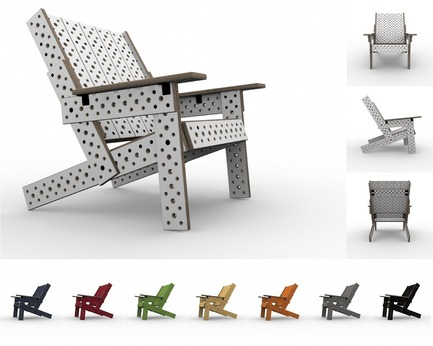 Press kit | 2261-01 - Press release | Furniture that Adapts to Ever-Changing Needs and Spaces - MOJUHLER - Product - 3d Renderings of Adirondack Kit and available colors - Photo credit: MOJUHLER