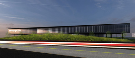 Press kit | 865-21 - Press release | Lemay to Design New Lumenpulse Head Office: A Window on the St. Lawrence River - Lemay - Commercial Architecture - Perspective - Dynamic Lighting  - Photo credit: Lemay