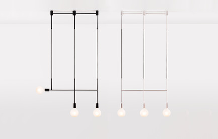 Dossier de presse | 1124-11 - Communiqué de presse | WIN Awards - Interior Practice & Lighting Categories Shortlists Announced - World Interiors News - Commercial Interior Design -  WIN Awards 2016 - Lighting Products Category:Step and Kick Series by Volker Haug (Melbourne, Australia)<br><br>The Step and Kick Series provides an unassuming twist on the traditional pendant. These elegant designs combine structural lines with refined materials incorporating fabric braided cable and intersecting arms made from polished brass.<br><br>A modular, customisable design, these pendants can be installed in a variety of configurations allowing for a personalised lighting arrangement.<br><br>'An interesting and adaptable piece of design. I like the different finishes. There are many possibilities for this fixture, especially in the hospitality market.' DA<br> - Crédit photo : Volker Haug