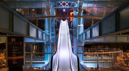 Dossier de presse | 1124-11 - Communiqué de presse | WIN Awards - Interior Practice & Lighting Categories Shortlists Announced - World Interiors News - Commercial Interior Design -  WIN Awards 2016 - Lighting Projects Category:&nbsp;Guinness Storehouse by Michael Grubb Studio (Dublin, Ireland) <br><br>Michael Grubb Studio work on the Guinness Storehouse, Dublin, shows how lighting design can be used to reinforce and enhance a brand, tell stories and enhance architecture. It reflects a creative approach to the brief that goes wider than technical solutions and therefore delivers greater value and impact than a purely architectural lighting design solution. Given the nature of the product, celebrating darkness has been central to describing the brand.&nbsp;<br><br>'This a nicely executed design with great use of colour. I love the shots of the internally illuminated clocks and the drama of the lighting within the space. It's a clever scheme and I think Michael Grubb Studio have translated it very well.' DA - Crédit photo : Michael Grubb Studio