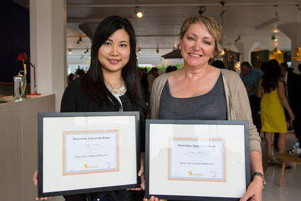 Press kit | 1615-03 - Press release | Call for Entries: The IESBC Vision Awards open January 1, 2017 - IESBC - Lighting Design -   Irena Lun (LH) &amp; Judith Babock (RH) - IESBC recipients of Emerging Professionals SHINE design competition 2014<br>   - Photo credit: Michael Young <br>