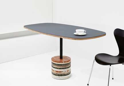 Press kit | 2335-01 - Press release | Beauparlant Announces Launch Of Their Stone Base Table - Beauparlant - Product - Design by Philippe Beauparlant - Photo credit: Valerie Wilcox