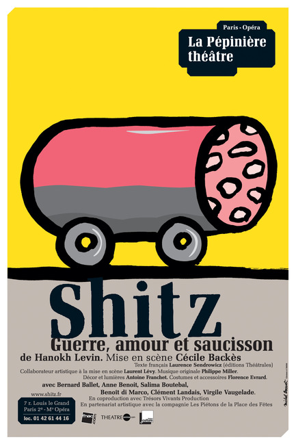 "Press kit | 748-08 - Press release | Programmation 2013-2014 du Centre de design de l'UQAM - Centre de design de l'UQAM - Event + Exhibition - GROS PLANL'ART DE L'AFFICHE DE MICHEL BOUVETAffiche ""Shitz"" 2008"