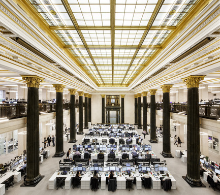 Press kit | 769-02 - Press release | The National Bank Unveils its New Montreal Trading Floor - Architecture49 - Commercial Architecture - National Bank trading floor in Montreal<br><br> - Photo credit: Stéphane Brügger